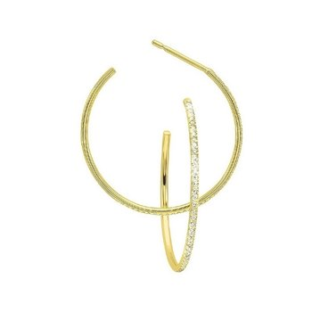 Diamond Ultra-Slim Hoop Earrings in 14k Yellow Gold (1/8ctw)