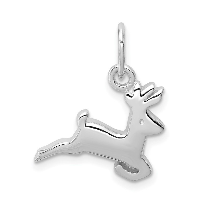 Quality Gold Sterling Silver Running Deer Charm