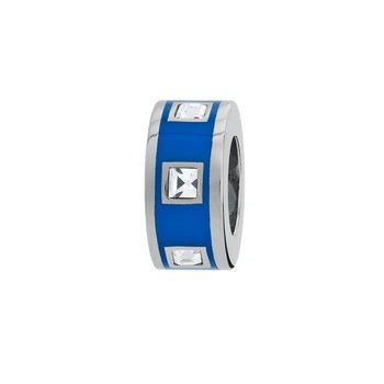 316L stainless steel, blue enamel and Swarovski® Elements crystals