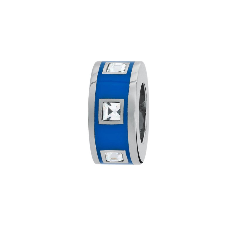Brosway 316L stainless steel, blue enamel and Swarovski® Elements crystals