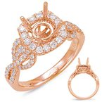 S. Kashi & Sons Bridal Rose Gold Halo Engagem