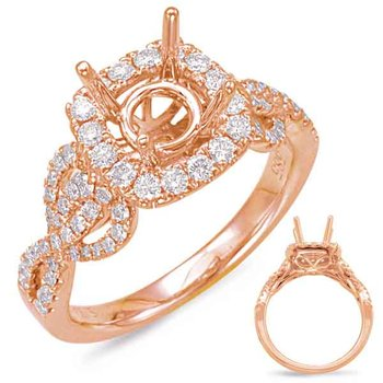 Rose Gold Halo Engagem
