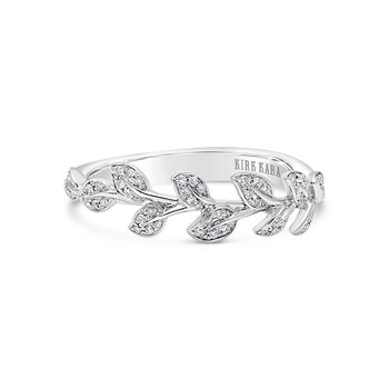 Leaf Natural Diamond Wedding Band