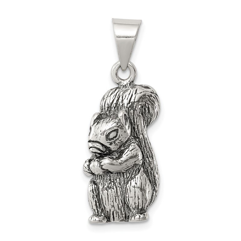Quality Gold Sterling Silver Antiqued Squirrel Charm