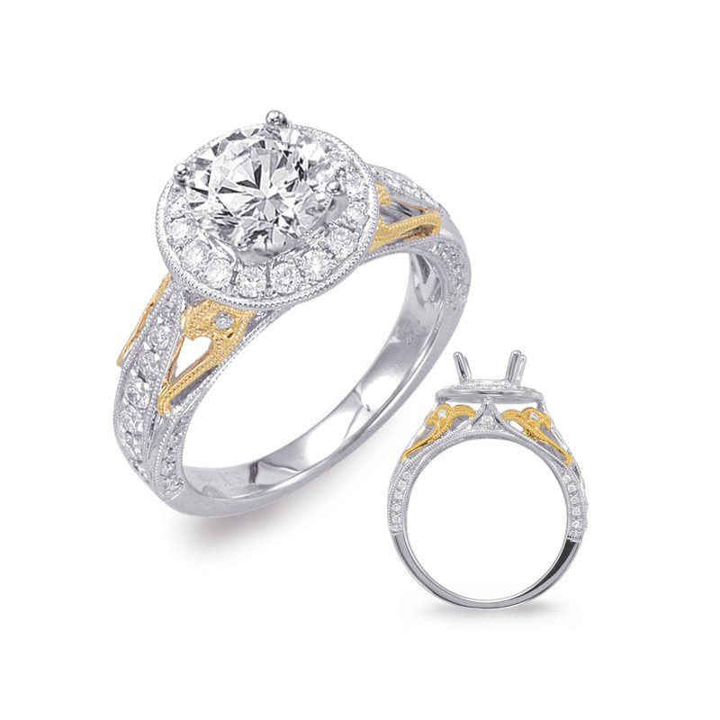S. Kashi & Sons Bridal White & Yellow Gold Engagement