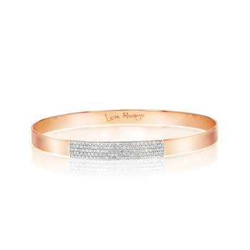 Rose gold diamond mini Affair strap bracelet