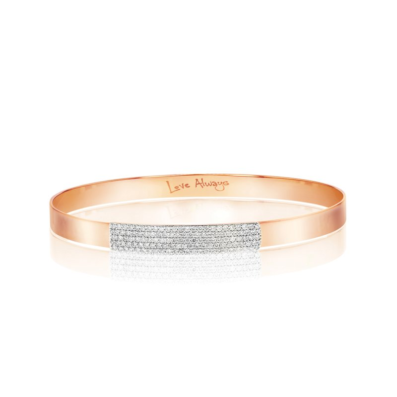 Phillips House Rose gold diamond mini Affair strap bracelet