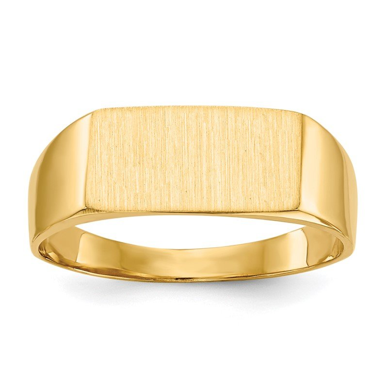 Quality Gold 14k 6.5x12.5mm Closed Back Signet Ring