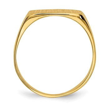 14k 6.5x12.5mm Closed Back Signet Ring