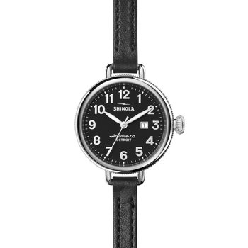 The Birdy 34mm Black Leather Strap Womens Watch