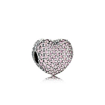 Pavé Open My Heart, Pink CZ