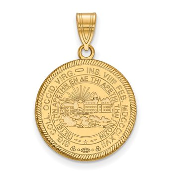 Gold-Plated Sterling Silver West Virginia University NCAA Pendant