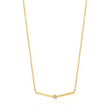 Shimmer Single Stud Necklace