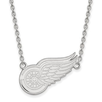 Sterling Silver Detroit Red Wings NHL Necklace
