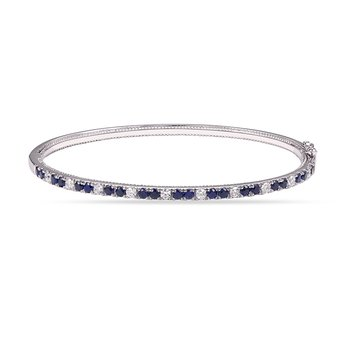 14K Diamond and Sapphire  Bangle 22 Sapphires 1.41CT and 10 diamonds 0.50CT