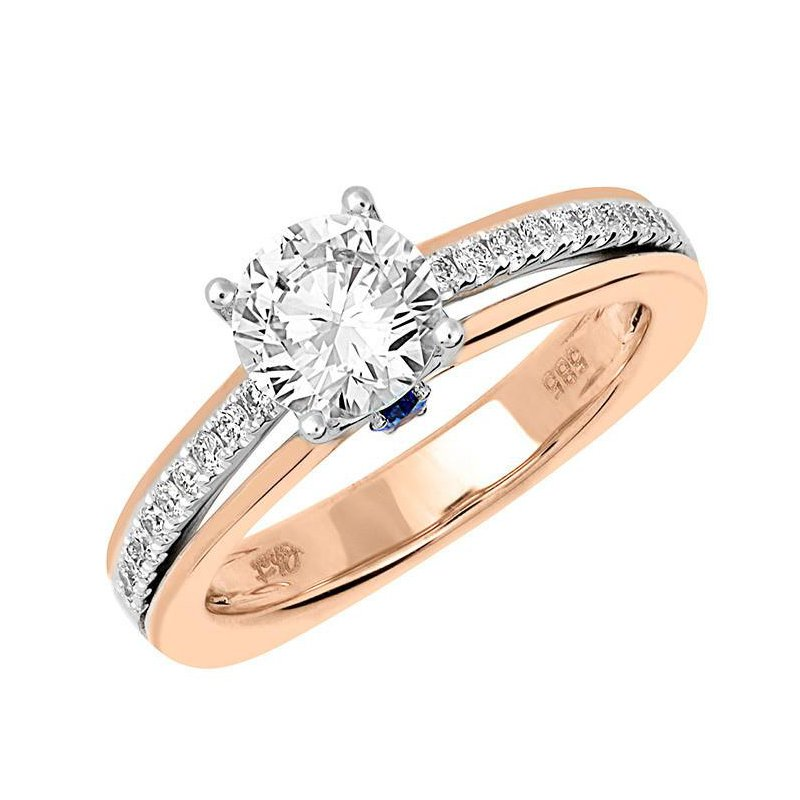 Chatham Bridal Ring-RE12654RW10R