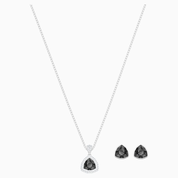Begin Set, Black, Rhodium plated