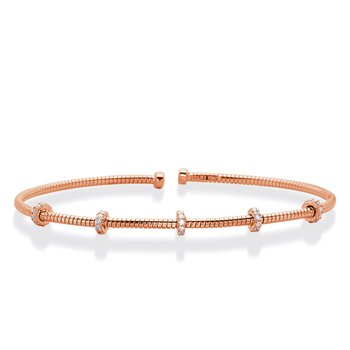 Rose Gold Bangle Italian Made