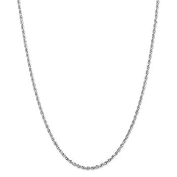 10k White Gold 2.75mm D/C Quadruple Rope Chain