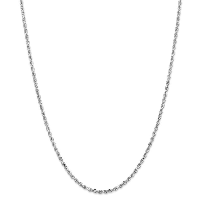 Quality Gold 10k White Gold 2.75mm D/C Quadruple Rope Chain