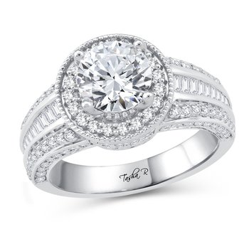 14K 1.00Ct Diam Semi Mount