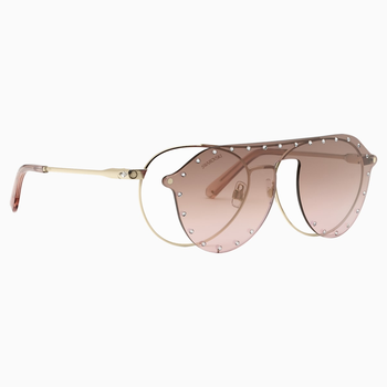 Swarovski Sunglasses with Click-on Mask, SK0276 – H 54032, Pink