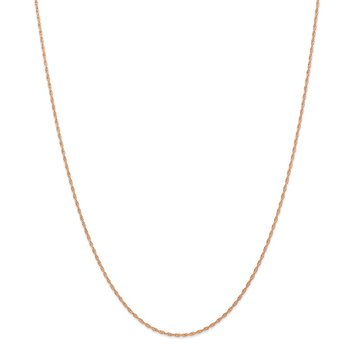 14k Rose Gold 1.15mm Baby Rope Chain