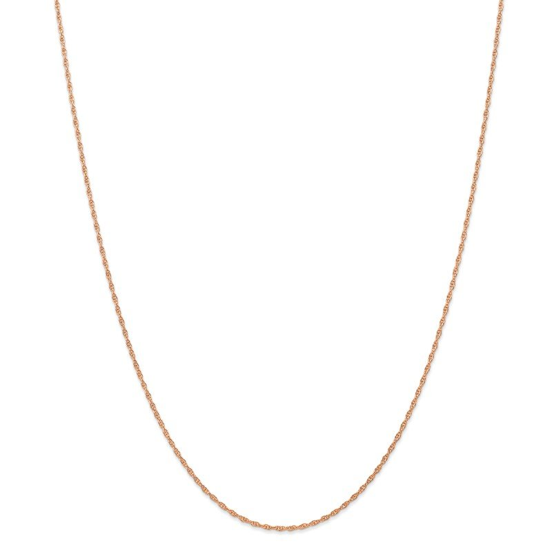 Quality Gold 14k Rose Gold 1.15mm Baby Rope Chain