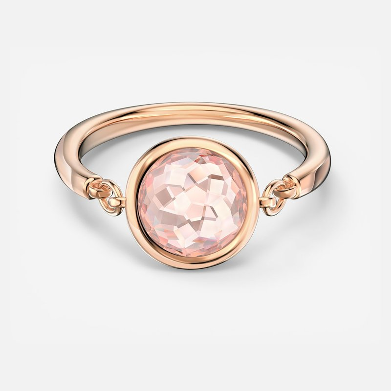 Swarovski Tahlia Ring, Pink, Rose-gold tone plated
