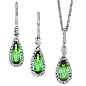 Tourmaline & Diamond Set