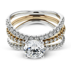 Simon G LR1083 WEDDING SET