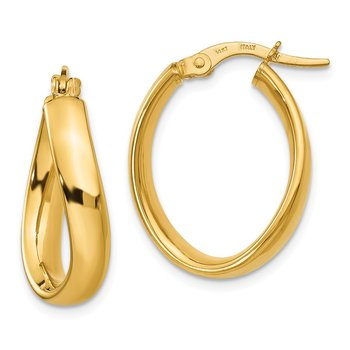 Leslie's 14K Oval Polished Earrings