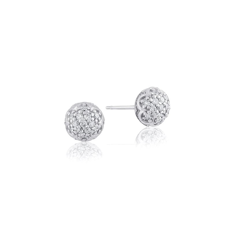 Tacori Fashion Simple Pavé Dew Drop Studs