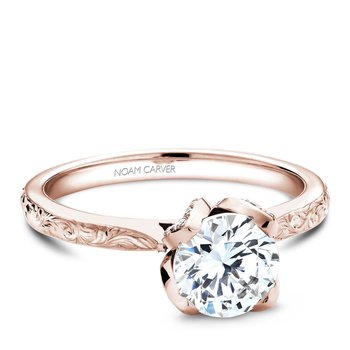 Noam Carver Floral Engagement Ring B019-03REA