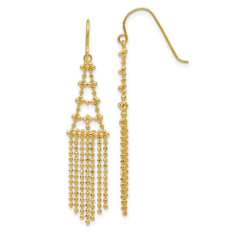 Quality Gold 14K Beaded Earrings