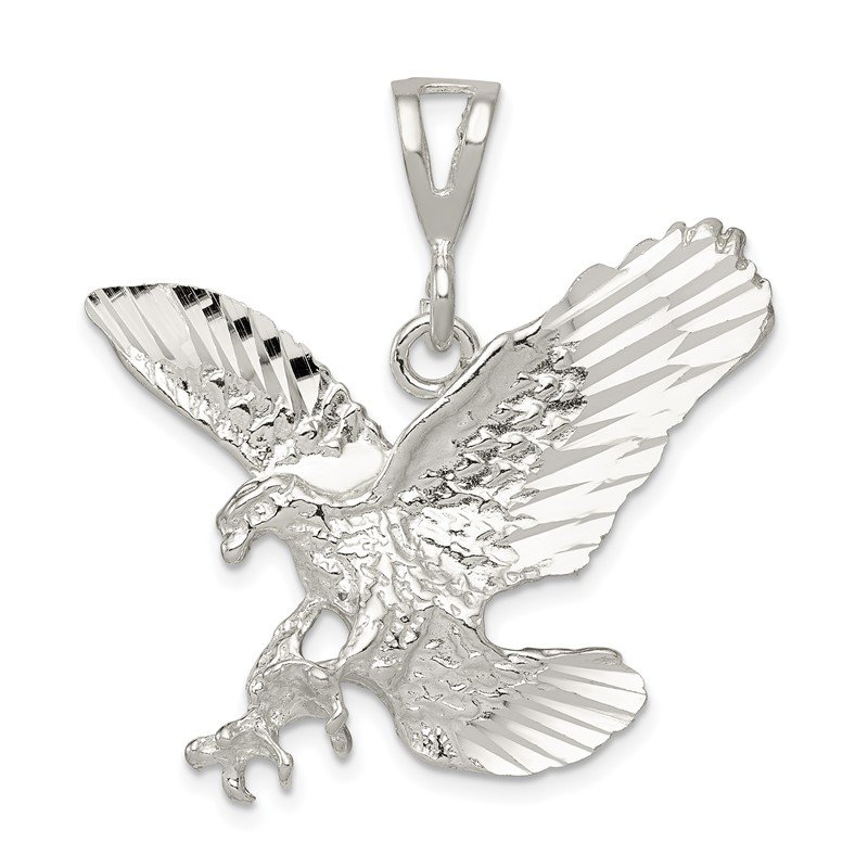 Quality Gold Sterling Silver Eagle Charm