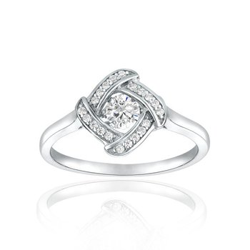 Diamond-shaped Shimmering Stone Ring