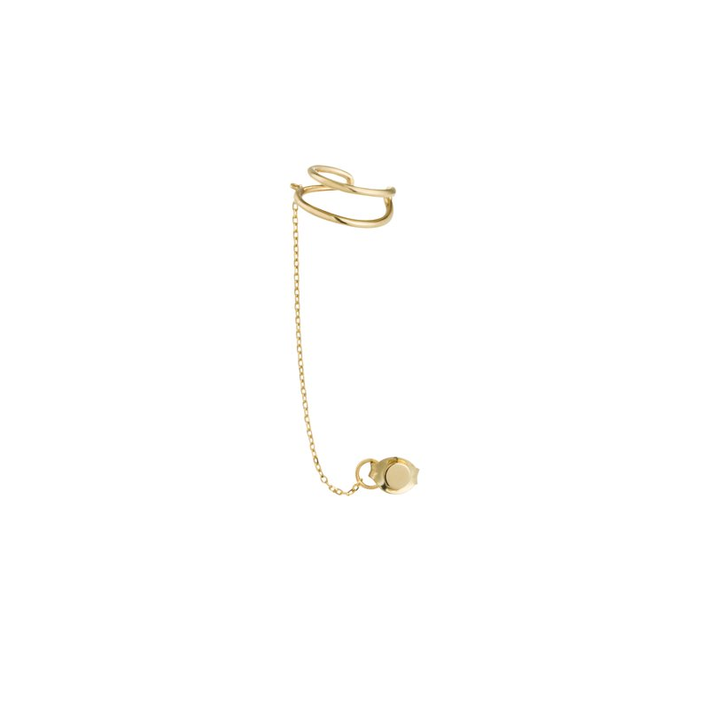 Aurelie Gi STEVIE | Single Disc Chain Ear Cuff