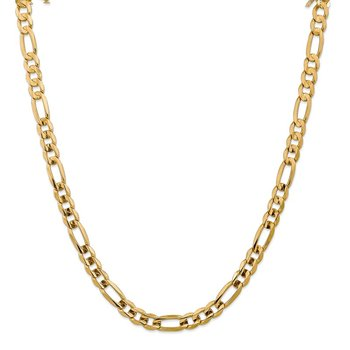 Leslie's 10K Yellow Gold 7.5mm Concave Figaro Chain
