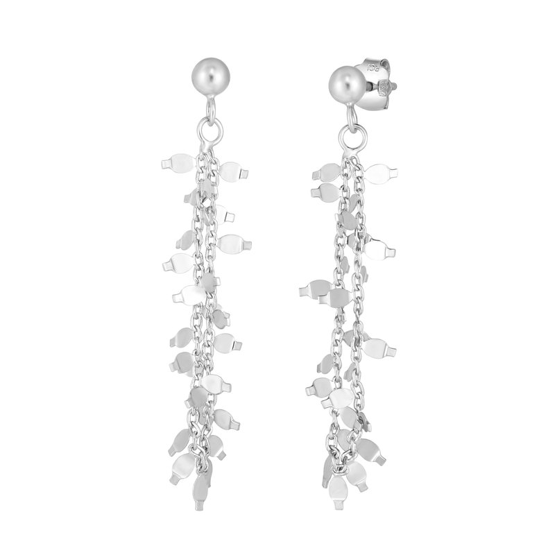 Royal Chain Silver Flora Earring