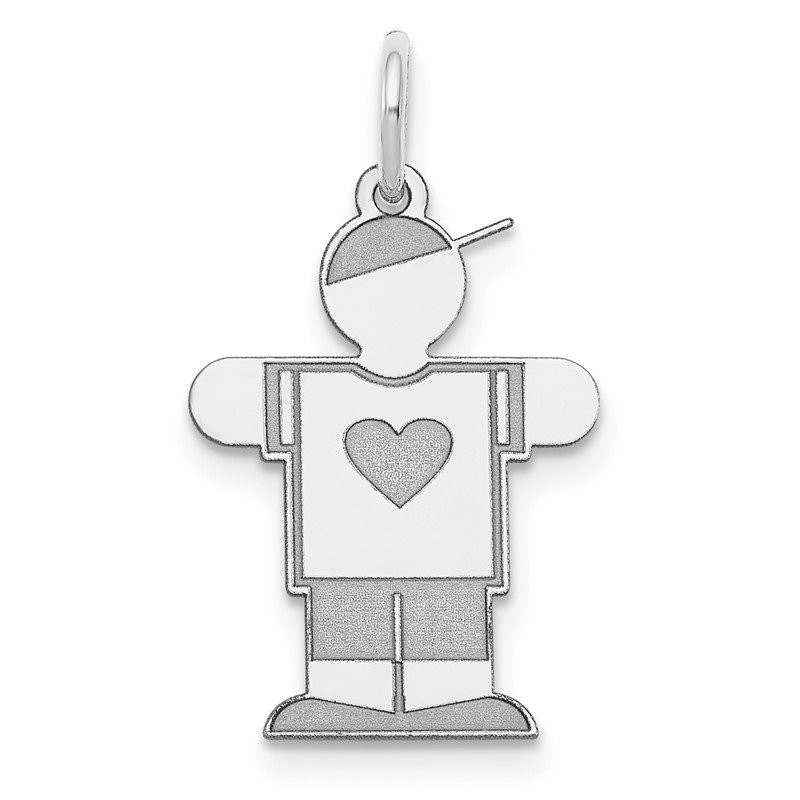 J.F. Kruse Signature Collection 14k White Gold Kid Charm