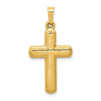 14k Satin Latin Cross Pendant