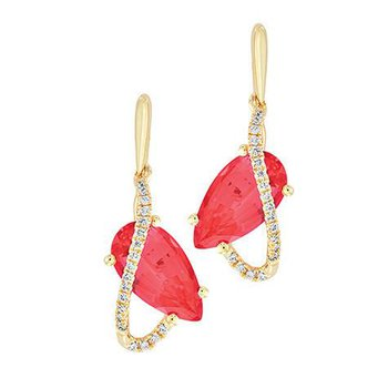 Padparadscha Earrings-CE4297YPD