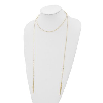 14K Fancy w/ Hanging Tassels w/3in ext. Choker Necklace