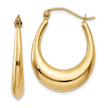 14k Polished Hoop Earrings