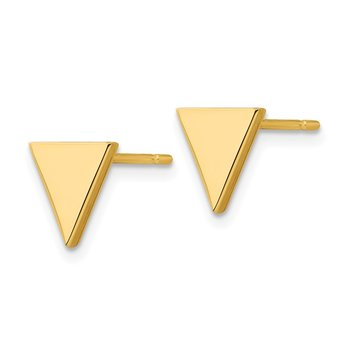 14k Triangle Post Earring