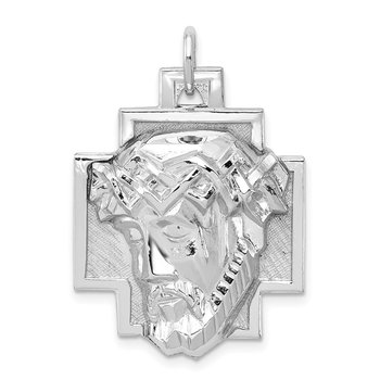 Sterling Silver Rhodium-plated Ecce Homo Charm