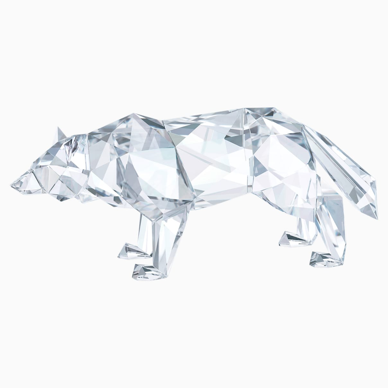 Swarovski Wolf by Arran Gregory, Crystal