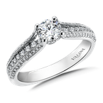 Valina Bridals Diamond Engagement Ring Mounting in 14K White Gold (.31 ct. tw.)