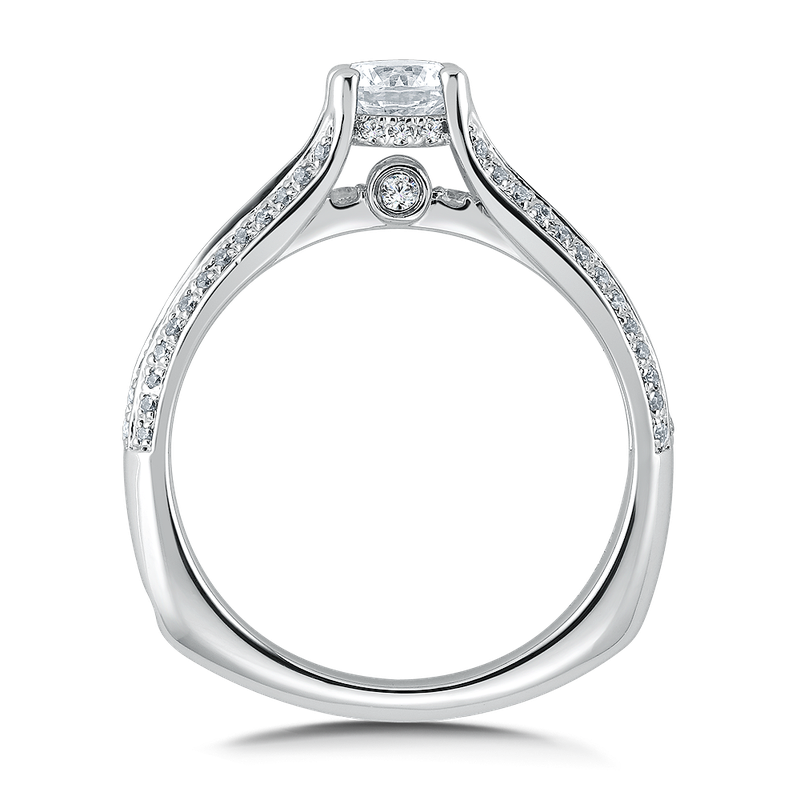 Valina Diamond Engagement Ring Mounting in 14K White Gold (.31 ct. tw.)